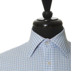 Ted Baker Blue Graph Check Classic Fit Shirt